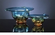 Large Blue and Orange Art Glass Bowl by Cyan Design (Small Bowl is Sold Separately)