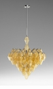Large Boho 4 Light Amber Pendant Light by Cyan Design