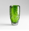 Large Brin Emerald Glass Vase by Cyan Design