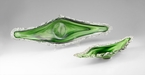 Large Dublin Green Art Glass Tray by Cyan Design