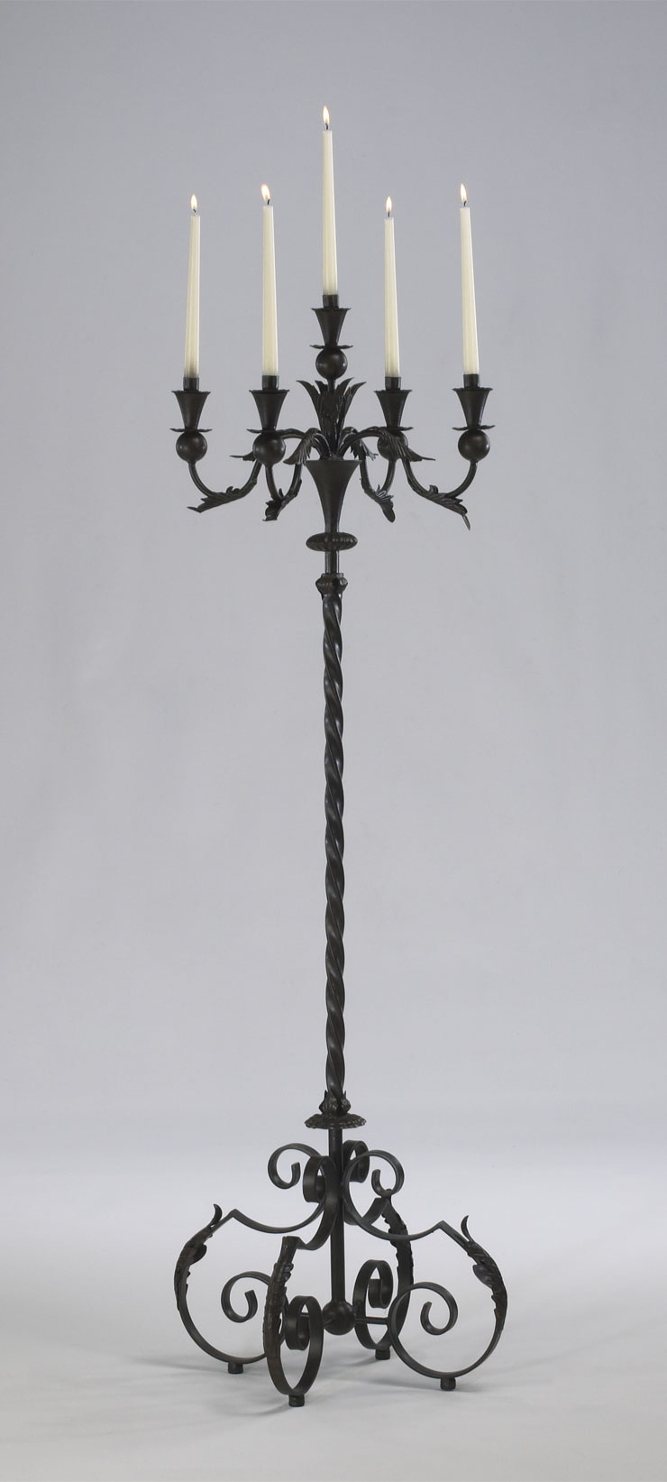 Tall wrought iron candle holders - Floor Stand Candle Holder