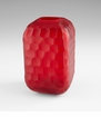 Large Rowan Red Glass Vase by Cyan Design
