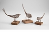 Large Rustic Iron & Wood Bird Sculpture by Cyan Design