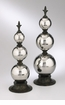 Large Silver Stacked Orbs Finial by Cyan Design (Small Finial is Sold Separately)