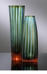 Large Stripe Chiseled Blue Glass Vase by Cyan Design (Each Vase is Sold Separately)