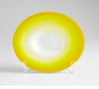 Large Yellow Celebration Glass Plate by Cyan Design