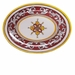 """Le Cadeaux Malaga Red 16"""" Coupe Oval Platter"""