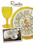 Le Cadeaux Rooster Yellow Dinnerware