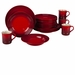Le Creuset 16 Piece Dinnerware Set - Cherry