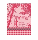 Le Jacquard Dancing Couple Red Kitchen Towel 28x20