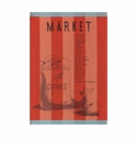 Le Jacquard Market Poppy Red Kitchen Towel 28x20