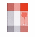 Le Jacquard Wine Glass Red Kitchen Towel 28x20