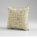 Lime Green Decorative Pillow by Cyan Design