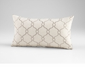 Linked Love Silver Decorative Pillow by Cyan Design