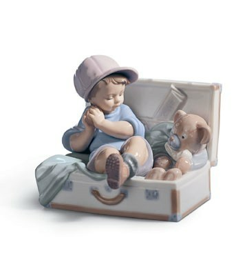 Lladro My Favorite Place - Boy in Toy Box Figurine