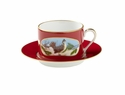 Lynn Chase Winter Game Birds Red Saucer
