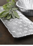Mariposa Basketweave Metal Serveware Collection