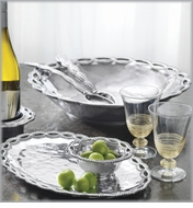 Mariposa Filigree Metal Serveware Collection