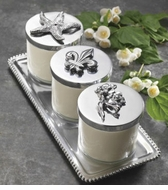 Mariposa Metal Candleholders & Tea Lights
