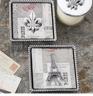 Mariposa Metal Napkin Boxes, Weights & Coaster Sets