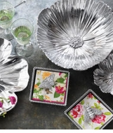 Mariposa Metal Nature Floral Serveware Collection