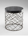 Marlow Round Iron Side Table by Cyan Design