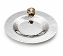 "Mary Jurek Aphrodite 8"" Shallow Dish - Brass Frog - Stainless Steel"