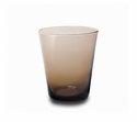 "Mary Jurek Catalina Glass Tumbler Chocolate-2 Piece Set 3.75"" H"