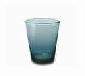 "Mary Jurek Catalina Glass Tumbler Grey Blue-2 Piece Set 3.75"" H"