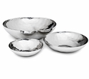 "Mary Jurek Luna 19"" Round Serving Bowl - Stainless Steel"