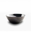 "Mary Jurek Mojave Round Bowl with Black Nickel Plate 4"" D"