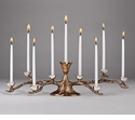"Mary Jurek Odelia 16"" X 5"" 9 Candle Tree Menorah - Stainless Steel"