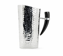 "Mary Jurek Orion 12"" Water Pitcher - Buffalo Horn - Stainless Steel"