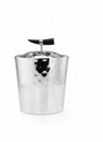 "Mary Jurek Orion Double Walled Ice Bucket with Buffalo Horn 9""H"