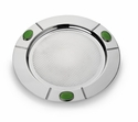 Mary Jurek Santa Fe Round Serve Tray with Green Onyx Stone 17""
