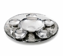 "Mary Jurek Savanna 14"" Round Serving Tray - Stainless Steel"