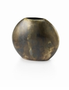 "Mary Jurek Sedona Burnished Bronze Round Vase 5""H"