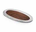 "Mary Jurek Sierra Oval Tray with Rosewood Insert 18.5"" x 9.75"""