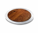 "Mary Jurek Sierra Round Tray with Rosewood Insert 17"" D"