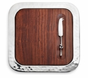 "Mary Jurek Sierra Square Tray with Indian Rosewood 14"" x 14"""