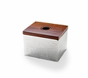 "Mary Jurek Wildwood Box w / Wood Texture & Indian Rosewood 5"" x 6""x 4.25"""