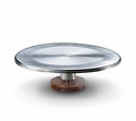 Mary Jurek Wildwood Cake Stand with Wood Texture & Indian Rosewood