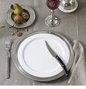 Match Pewter Convivio & Viviana Dinnerware & Pewter Charger Plates