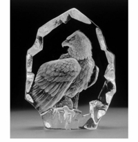 Mats Jonasson Etched Crystal Wildlife