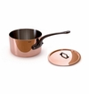 "Mauviel 2.5mm Copper Cookware saucepan 5.5"" with lid"