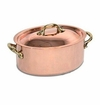 Mauviel M150B Bronze Handled oval stewpan 20 cm Covered