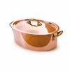 Mauviel M150B Bronze Handled oval stewpan 30 cm Covered