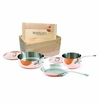 Mauviel M150S 5 Piece Copper Cookware Set W/ Crate
