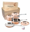Mauviel M150S 7 Piece Copper Cookware Set W/Crate