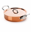 Mauviel M150S Cast Stainless Handled rondeau 24 cm Covered